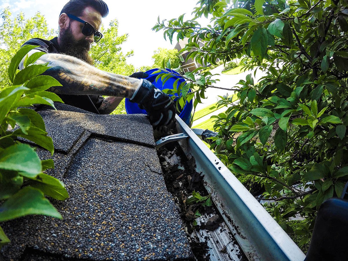 Gutter Cleaning in Leawood, KS