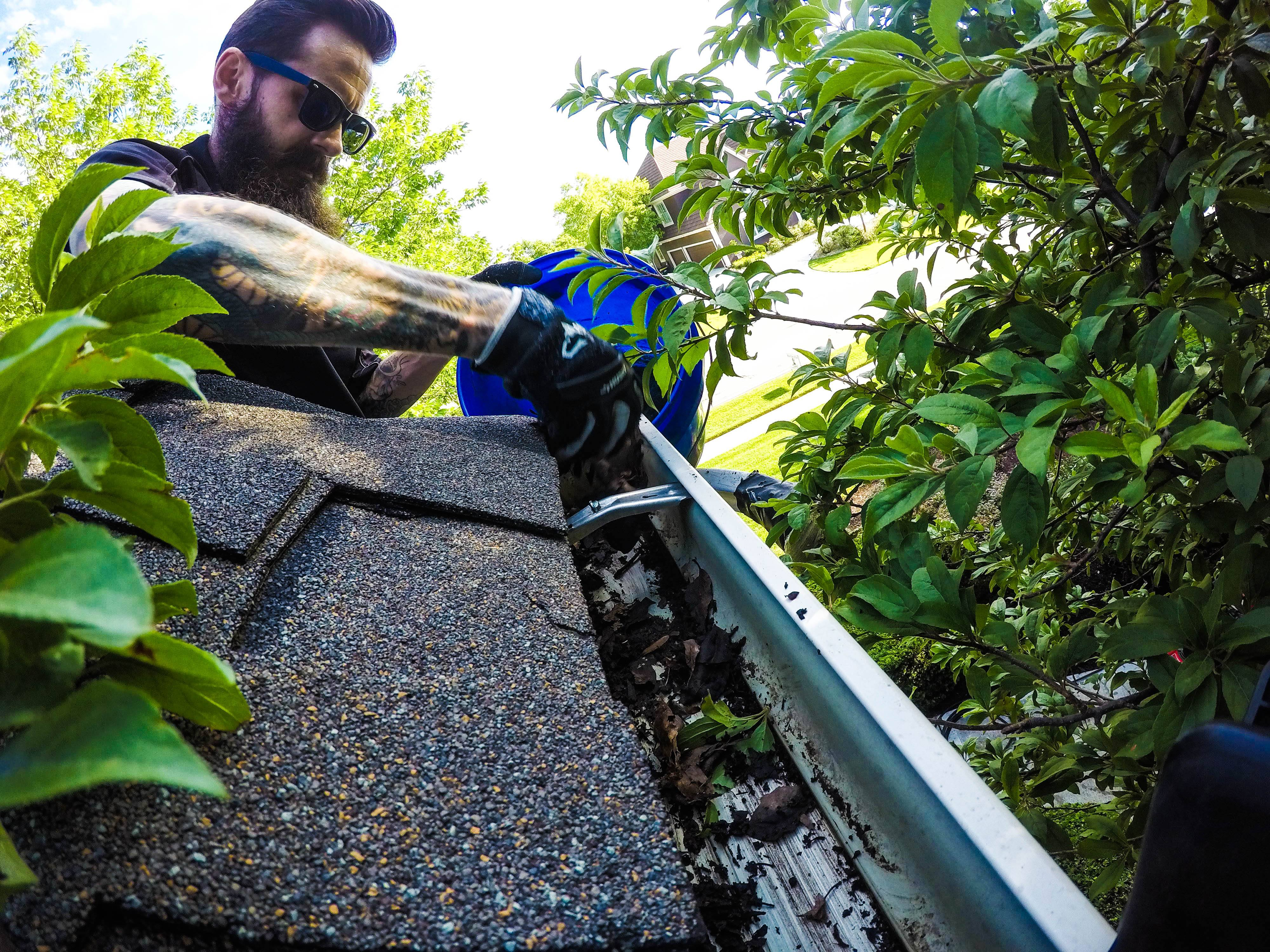 Gutter Cleaning in Kansas City, MO by Luke TWC